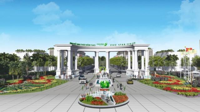 Từ phác thảo và thiết kế hạng mục cổng chào dự án khu đô thị Năm Sao...