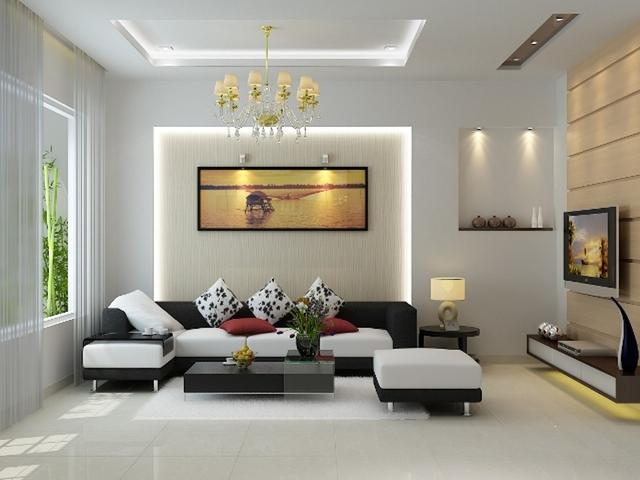 Sự hài hòa về màu sắc của bộ sofa sẽ khiến không gian phòng khách nhà bạn trở nên lịch lãm và sang trọng.