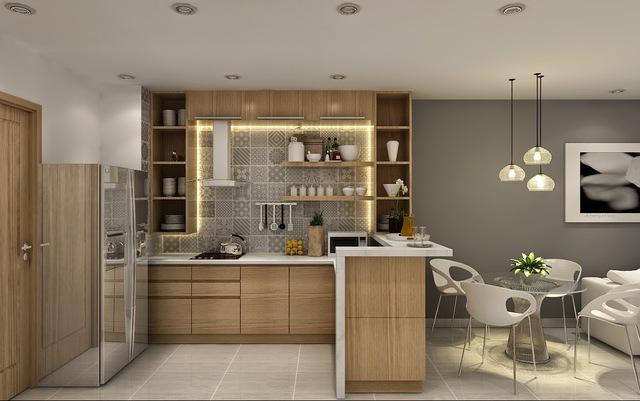 Với cách thiết kế mở thế này giúp không gian trong nhà trở nên thoáng đãng, mát mẻ, thoải mái.