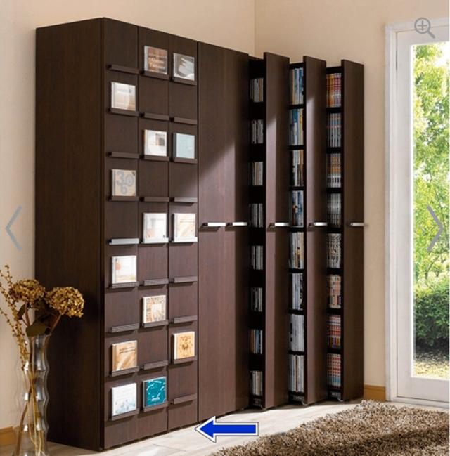 Chiếc tủ với gờ ngoài đựng sách báo, truyên tranh như thế này là lựa chọn số một cho những gia đình Nhật Bản yêu sách.