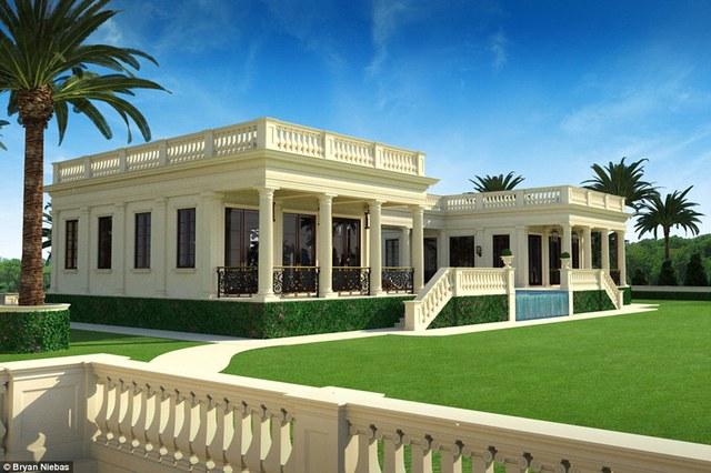Cạnh khu vực nhà chính là hai nhà dành riêng cho khách được xây dựng trên phần đất 270m2 và có chung bể bơi.