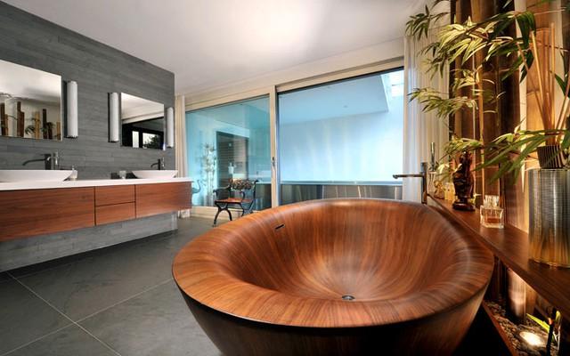Phòng tắm nhà bạn sẽ trở nên vô cùng cá tính với kiểu bồn tắm này