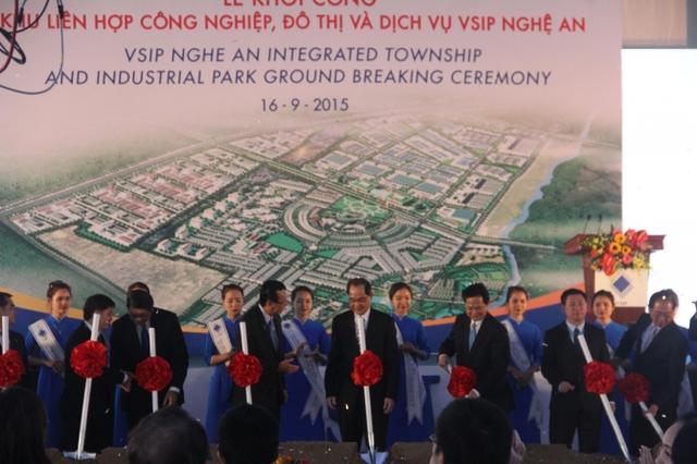 Nghi thức khởi công Khu liên hiệp VSIP Nghệ An