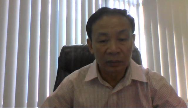 ông Đỗ Hữu Hạ trong cuộc trò chuyện qua video