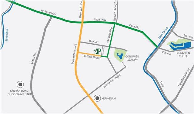 Dự án nằm tại vị trí trung tâm quận Cầu Giấy