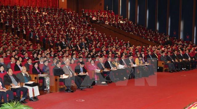 Các đại biểu tham dự Đại hội Đảng toàn quốc lần thứ 12. (Ảnh: TTXVN)