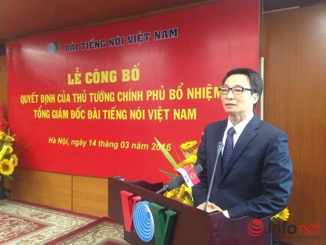 Phó Thủ tướng Chính phủ Vũ Đức Đam phát biểu tại Lễ công bố. Ảnh: B.M