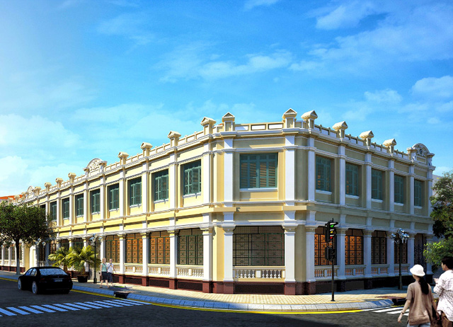 Khối nhà làm việc kéo dài đến góc đường Lê Thánh Tôn và Đồng Khơi. Nơi đây tập trung nhiều trung tâm mua sắm lớn như Vincom, Union Square và nhà ga chính của tuyến metro số 1 Bến Thành - Suối Tiên...
