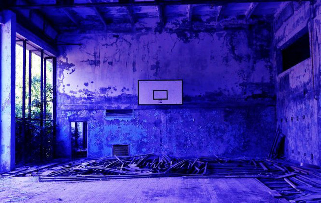 Bên trong một sân bóng rổ