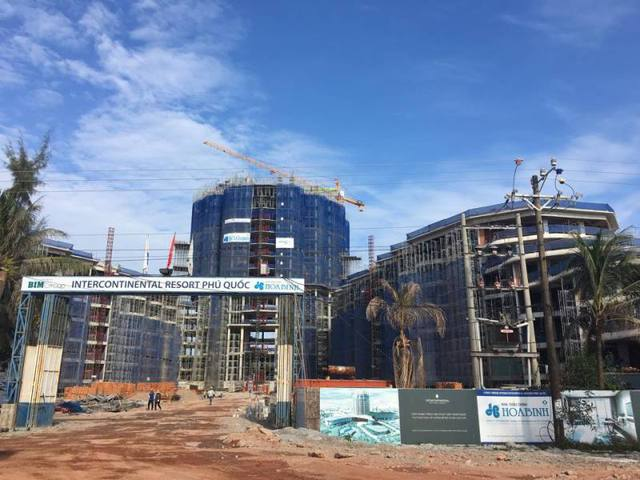 Khu khách sạn đang thi công xây dựng-ảnh cập nhật ngày 16/1/2016