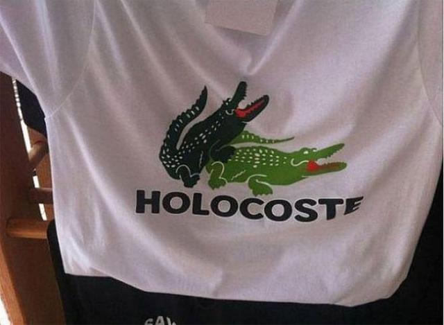 """Từ Lacoste thành """"Holocoste"""". Chưa kể, số con cá sấu còn tăng gấp đôi!"""