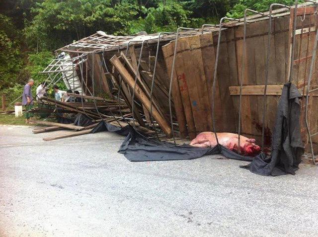 Những vụ tai nạn kiểu này không hiếm gặp ở Cao Bằng.