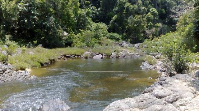 Vị trí mà Công ty 30-4 xin làm thủy điện trong Khu bảo tồn Kon Chư Răng, tỉnh Gia Lai - Ảnh: B.D