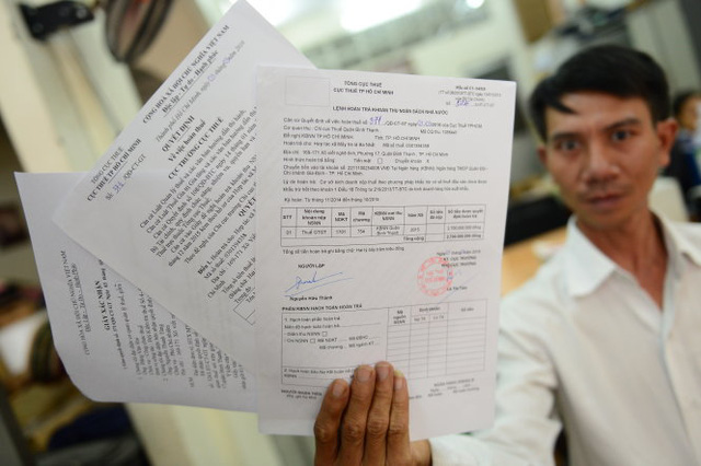 HTX mây tre lá Ba Nhất đang bị nợ 2,7 tỉ đồng tiền hoàn thuế - Ảnh: Quang Định