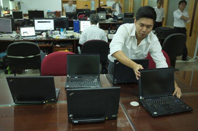 Máy tính Lenovo được sử dụng khá phổ biến ở VN - Ảnh: Hoài Linh