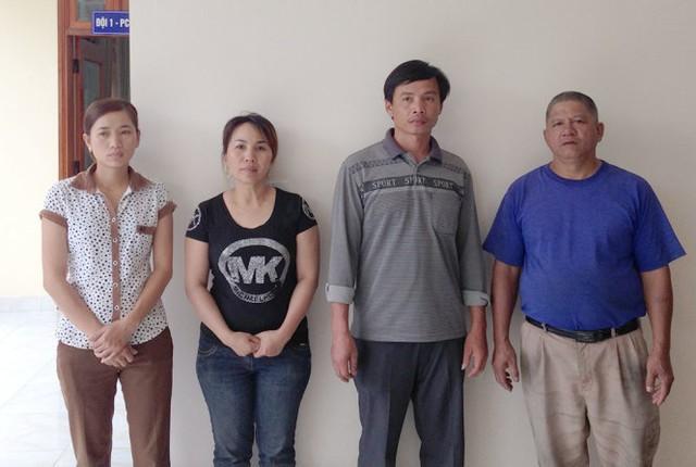 Các đối tượng (từ trái sang) Lài, Thảo, Hùng, Lâm