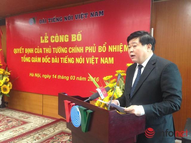Tổng Giám đốc VOV Nguyễn Thế Kỷ nhấn mạnh quyết tâm đưa VOV tiếp tục phát triển mạnh mẽ. Ảnh: B.M