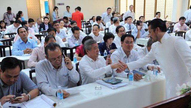 Các ứng viên tại buổi ra mắt - Ảnh: Tự Trung