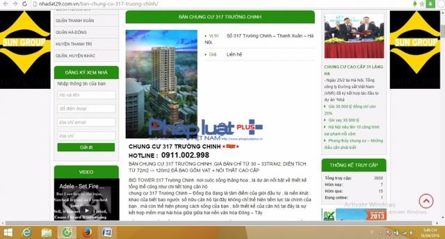Những thông tin về bán căn hộ chung cư 317 Trường Chinh khá công khai và rõ ràng.