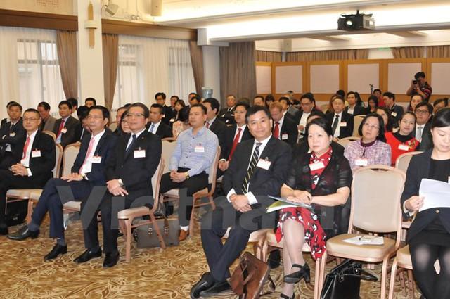 Đông đảo các nhà đầu tư và đại diện công ty thương mại Hong Kong tham dự tọa đàm. (Ảnh: Tuấn Nam Anh/Vietnam+)