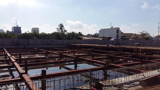 Một dự án chung cư cao cấp đang thi công tầng hầm của PDR