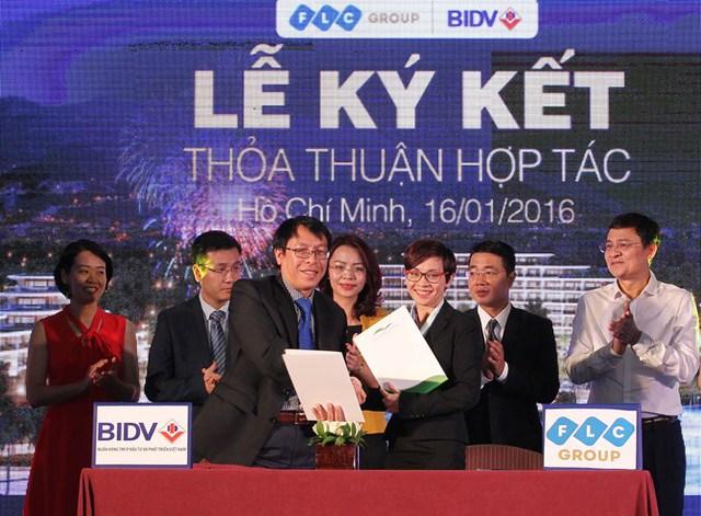 FLC ký kết hợp tác với BIDV hỗ trợ khách hàng mua căn hộ khách sạn và biệt thự nghỉ dưỡng tại FLC Quy Nhơn