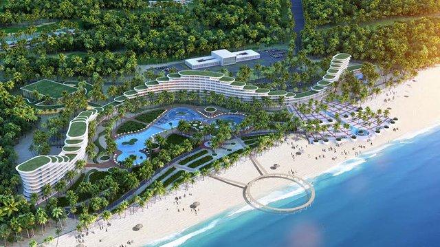 Khách sạn dài gần 1 km thuộc Quần thể sân golf, resort, biệt thự nghỉ dưỡng và giải trí cao cấp FLC Quy Nhơn