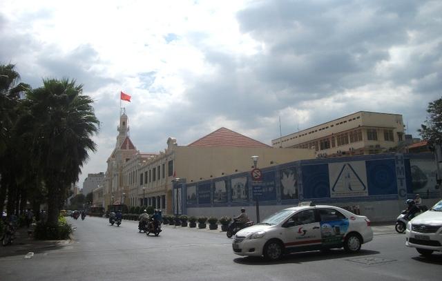 Hiện trạng khu vực đang được xây dựng trung tâm hành chính TP.HCM. Nhà thầu đang thi công phần ngầm.