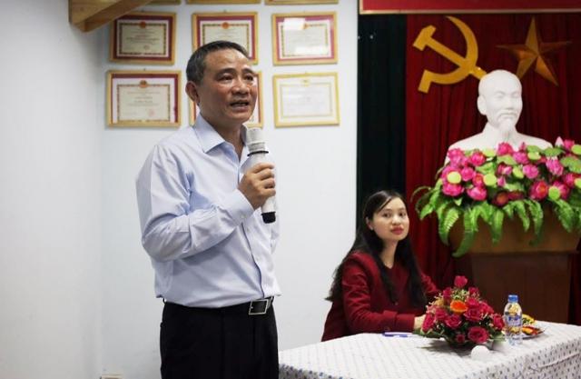 Đồng chí Trương Quang Nghĩa phát biểu cảm ơn cử tri Tổ dân phố 41 - phường Trung Hòa