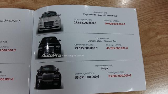Và mức giá khủng của Rolls-Royce Phantom phiên bản Đông A.