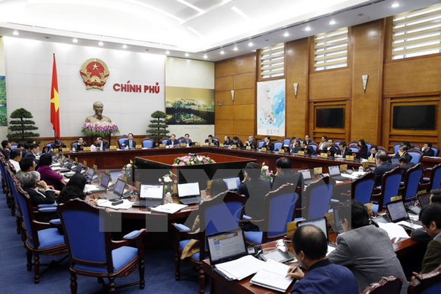 Phiên họp Chính phủ thường kỳ tháng 2/2016. (Ảnh: Đức Tám/TTXVN)