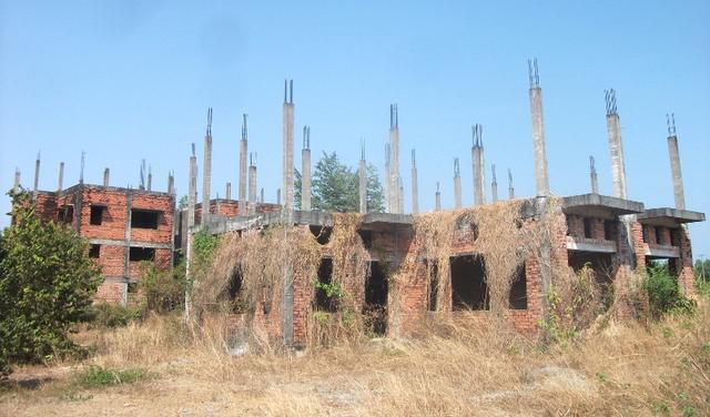 Cách trung tâm huyện Nhơn Trạch chỉ khoảng 1-3km nhưng nhiều dự án khu dân cư đã cơ bản hoàn thành hạ tầng lại bỏ hoang, cỏ mọc lút đầu người.