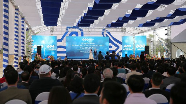 Hơn 1.000 đại biểu và quan khách đã tham dự và chứng kiến Lễ khởi công FLC Hạ Long.