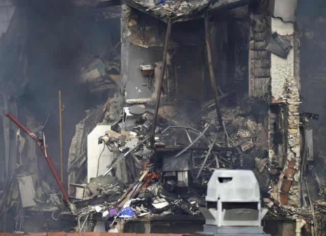 Khung cảnh tan hoang tại nơi xảy ra nổ - Ảnh: Getty Images