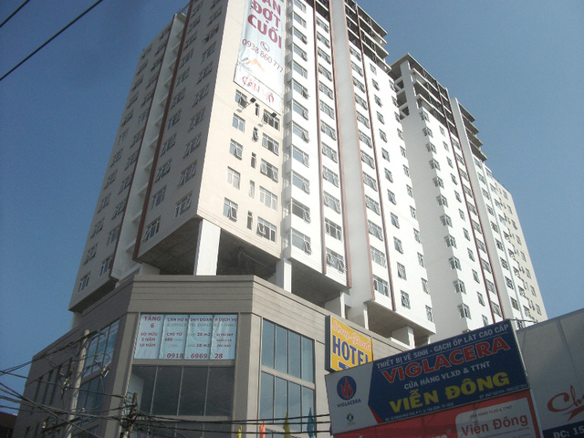 Dự án Bay Hien Tower trên đường Phạm Phú Thứ chuẩn bị bàn giao cho khách hàng.