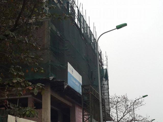 Hiện tại, công trình mới chỉ thi công đến tầng 14.