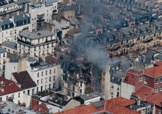 Tòa nhà nơi xảy ra cháy, nổ - Ảnh: EPA