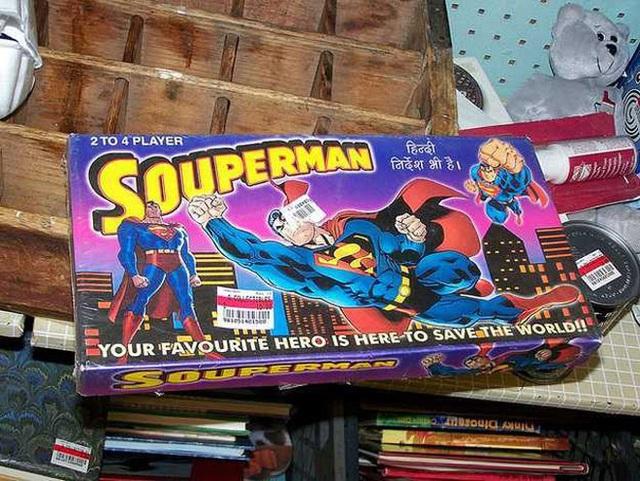 """Superman thêm một chữ """"o"""" thành """"Souperman""""!"""