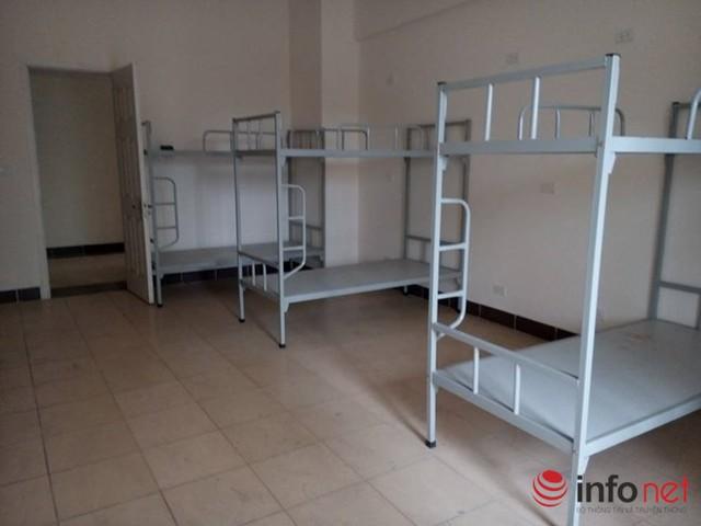 Mỗi phòng được trang bị 4 giường tầng