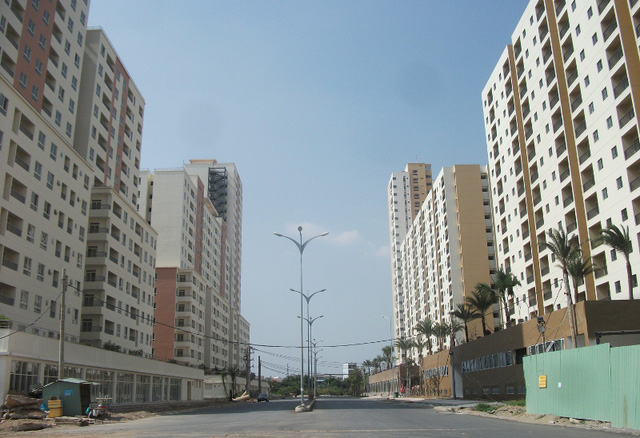Lối vào chính của khu tái định cư đồ sộ bậc nhất TP.HCM.