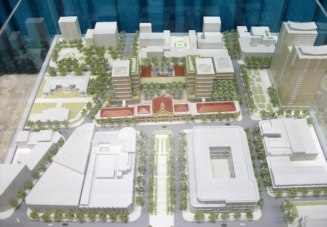 Phương án quy hoạch mới của các tư vấn thiết kế Nhật Bản.