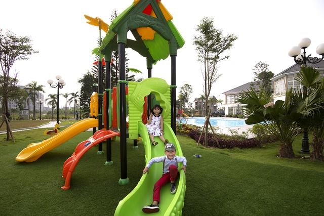 Bên cạnh việc hỗ trợ lãi suất, nhiều chủ dự án còn đẩy mạnh đầu tư vào các tiện ích và dịch vụ để thu hút người dân về ở tại các đô thị mới (ảnh -dự án Bamboo Garden)
