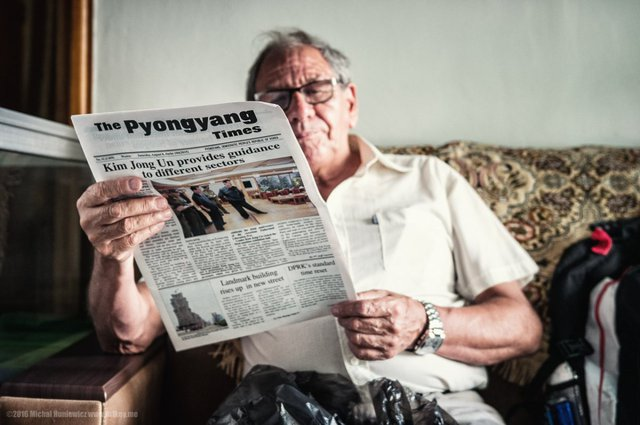 Pyongyang Times là báo xuất bản hàng tuần, bằng tiếng Anh và tiếng Pháp từ năm 1965. Trang nhất luôn nói về các chuyến công du hay lời khuyên của Lãnh đạo Triều Tiên Kim Jong Un