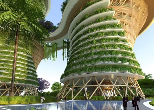 Các tòa nhà sẽ được trang bị các tấm năng lượng mặt trời. Ngoài ra, sản phẩm phụ nông nghiệp từ các trang trại sẽ được chuyển thành khí metan để tạo ra năng lượng để sử dụng trong tòa nhà.