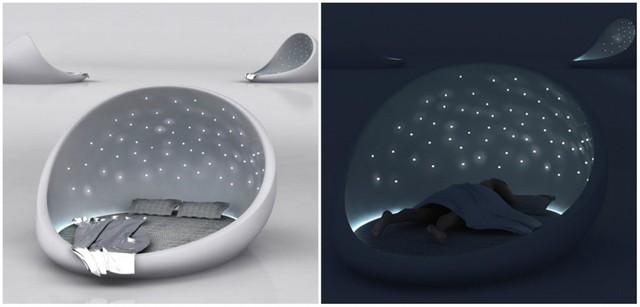 Với chiếc giường bầu trời sao này bạn sẽ được thỏa sức đắm mình trong không gian vũ trụ bao la.
