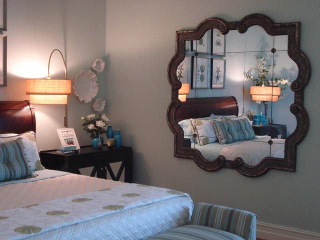 Giương để đối diện giường ngủ sẽ làm cho tinh thần người ngủ bất an