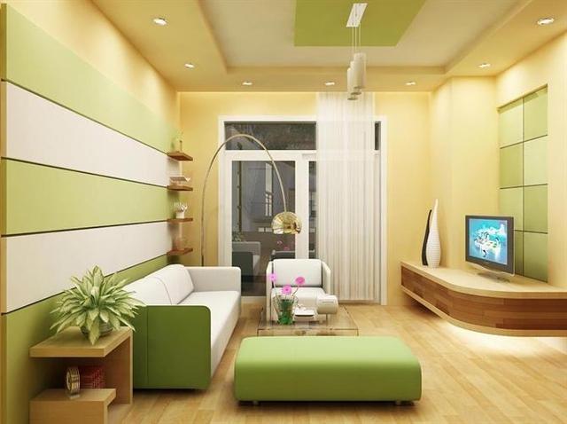 Với màu vàng chanh phòng khách nhà bạn như được thổi vào một luồng gió mới mang sức sống cho cả ngôi nhà.