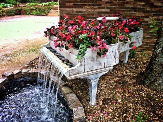 Thật là tuyệt vời khi sân vườn nhà bạn sở hữu một cây đàn hoa rực rỡ, kèm với đó là tiếng nước chảy róc rách bên tai.