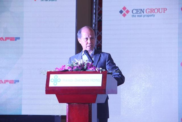 Ông Nguyễn Trần Nam, Chủ tịch Hiệp hội Bất động sản Việt Nam phát biểu khai mạc