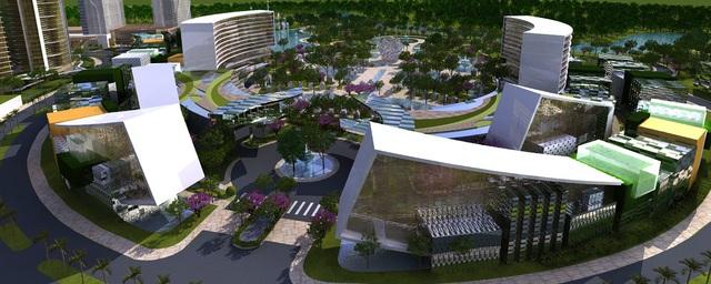 Khu công viên hiện đại này nằm trong hồ sơ các dự án thiết kế tại Việt Nam do Steelman Partners thực hiện.